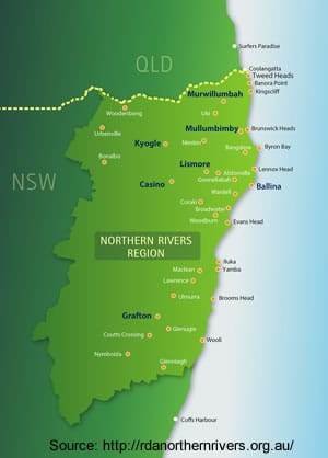 Northern Rivers Region Map
